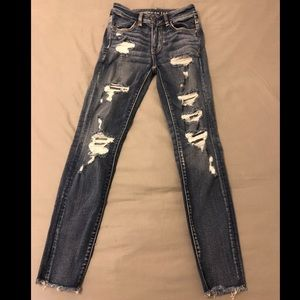 High waisted jegging crop AE